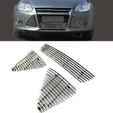 For Ford Focus 2012-2014 3PCS ABS Front Grille Mesh Vent