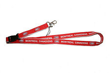 MONTREAL CANADIENS RED DOUBLE SIDED NHL HOCKEY LOGO LANYARD KEYCHAIN PASSHOLDER