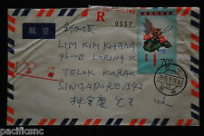 China PRC T104 Lantern Set, T106 8f x 2, 20f on Cover - Registered to Singapore
