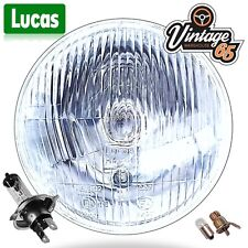 "BSA Triumph Norton Lucas 7"" Sealed Beam Headlight Conversion H4 Halogen Headlamp"