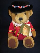 """HARRODS Bear 11"""" Beefeater Tan Bear Sitting ~ NEW with Tags"""