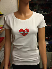T-SHIRT BIANCA WHITE MV AGUSTA ORIGINALE OFFICIAL TAGLIE SIZES XS-S-M-L-XL