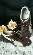 PUMA Chocolate Brown Suede ATHLETIC SHOES for WOMEN Size US 10