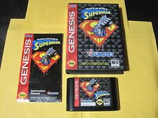 Death and Return of Superman (Sega Genesis, 1994) Rare Sunsoft Complete in Box