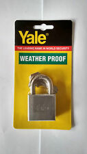 1 x YALE 40MM PADLOCK STAINLESS STEEL SHACKLE CHROME - FREE POSTAGE