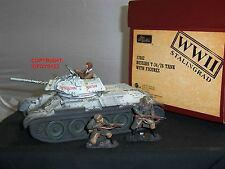 BRITAINS 17602 STALINGRAD RUSSIAN T-34/76 WW2 TANK + CREW METAL TOY SOLDIER SET
