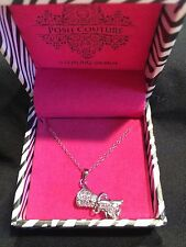 """* Posh Couture Sterling Silver 18"""" Cubic Zirconia Diploma Necklace"""