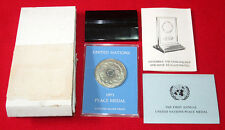 United Nations 1971 Franklin Mint PEACE MEDAL Silver PROOF Coin