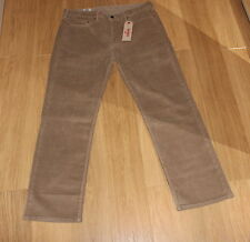 BNWT LEVIS 514 SAND CORDS , 38W 32L , BRAND NEW UK STOCK