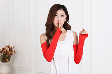 20 Colors Cosy Women Girl Arm Warmer cotton Long Fingerless Gloves Fashion FINE