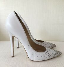 Jimmy Choo Anouk White Leather Pumps Size 41 USED IMMACULATE