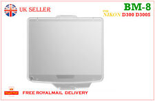 NIKON BM-8 Hard LCD Monitor Cover Screen Protector BM8 for D300 D300S UK Seller