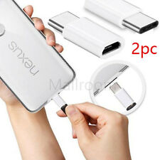 2pc/Lotto USB-C tipo c to Micro USB Dati Charging Adattatore per LG G5/Nexus 6P/