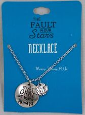 The Fault in Our Stars Maybe Okay Will Be Our Always Cloud Necklace  Silver Tone