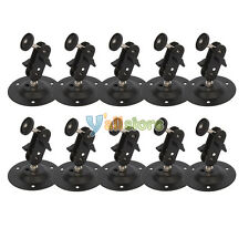 Lot10 Surveillance Security CCTV Camera Wall Mount Bracket Ceiling Stand Black
