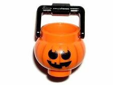 LEGO Orange Pumpkin Jack O' Lantern Devil Imp Minifigure Halloween Bucket 71013