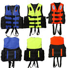 NEW Universal Polyester Adult Life Jacket Swimming Boating Ski Vest with Whistle