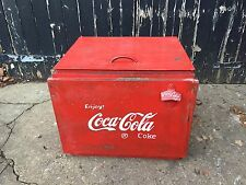Vintage Coca Cola Ice Box Drinks Cooler Cool Box