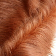"""Brown SHAGGY FAUX FUR FABRIC LONG PILE FUR costumes photo backdrops 60"""" BTY"""