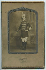 DRUM MAJOR IN MARCHING BAND UNIFORM FROM MCKEESPORT, PA, BY BIRCH STUDIO, DECORA