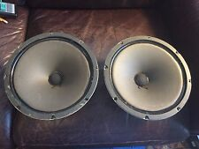 Pair of Vintage Fisher 10-inch Woofers W-107 Speakers 4 ohms