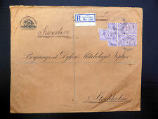 GB/SWEDEN 1921 B.P.O. Constantinople Registered Envelope to SEE BELOW FP7805