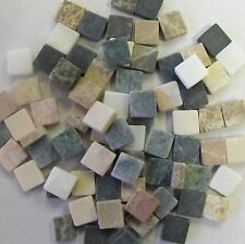 Natural stone mosaic tiles 1cm x 1cm - 200g bag in your choice of colour