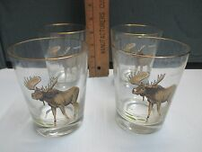 Vintage MOOSE Juice/Drink Glasses Set of 4