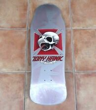 "1980s Vintage Powell Peralta ""Tony Hawk Chicken Skull"" Silver Skate Deck Shrink"