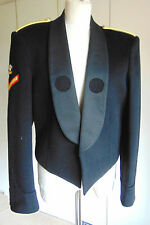 Vintage Military black mess uniform jacket red trim & lining medal loops 38""