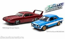 THE FAST AND FURIOUS DODGE CHARGER ESCORT RS DIORAMA SET 1/43 GREENLIGHT 86251