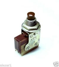 6x  Military Russian Mini PUSH BUTTON Switch SPDT On-On Brown Botton