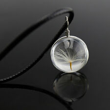 New Glass Ball Dandelion Seed Pendant Necklace Jewelry Friend Charm Women Men