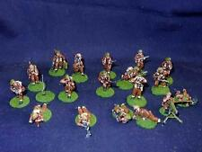 25mm - WW2 BRITISH (20 pcs) Hand-Painted Lot #1 - Soldiers - flocked & based
