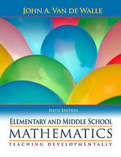 Elementary and Middle School Mathematics: Teaching Developmentally-ExLibrary