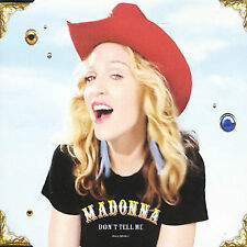 Madonna Don't Tell Me  Ex Cond  CD