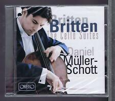 DANIEL MULLER SCHOTT CD NEW BRITTEN CELLO SUITES ORFEO