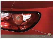 ALFA ROMEO BRERA & SPIDER ACCESSORI 2008-10 UK Opuscolo Vendite sul mercato