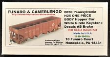 LMH Funaro F&C 8030   PENNSYLVANIA   PRR   H25 4-Bay Hopper Car  1-PIECE BODY