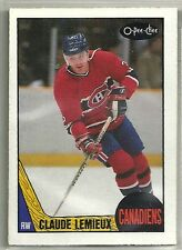 Claude Lemieux 1987-88 O-Pee-Chee Montreal Canadiens ROOKIE RC Card #227