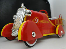 Ford Fire Engine Pedal Car Truck Rare Vintage Classic Midget Metal Model Yellow