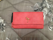 BNWT LARGE PINK FLAMINGO DESIGN OVERSIZED PURSE/WALLET/CLUTCH-HOLDS IPHONE 6+