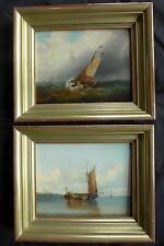 KAREL KLINKENBERG 1842-1924 ?; HOLLAND; 2 SEESTÜCKE; MARINE; SEGELSCHIFF UM 1870