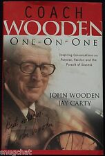 Coach Wooden One-on-One John Wooden Jay Carty © 2003 Regal Autographed Cover