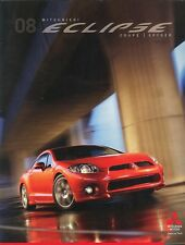 2008 Mitsubishi Eclipse Coupe Spyder GT Coupe Spyder GS Deluxe Sales Brochure