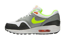 NEW NIKE AIR MAX 1 Running Womens 7 (5.5Y) White Gray Volt 555766 115