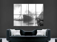 TITANIC SHIP CLASSIC POSTER DOCKYARD PORT PRINT IMAGE GIANT BLACK AND WHITE