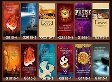 "Inspirational Christian Church Banners 30"" x 62"" (PICK-ANY-TWO)"
