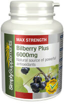 SimplySupplements Bilberry Plus 6000mg 180 Tablets (E499)