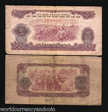 VIETNAM SOUTH 5 DONG P R6 1963 MILITIA VIETNAMESE CURRENCY MONEY BILL BANK NOTE